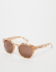 Зеркальные круглые солнцезащитные очки Dolce & Gabbana - Розовый