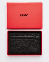 Кожаная визитница Hugo Boss - Черный
