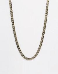 Золотисто-черное ожерелье из массивной цепочки ASOS - Золотой
