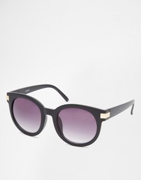Круглые солнцезащитные очки в стиле ретро с металлическими уголками AS Asos