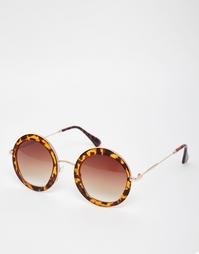 Большие круглые солнцезащитные очки AJ Morgan - Черепаховый
