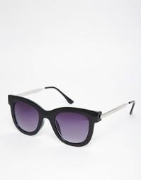 Солнцезащитные очки с металлическими дужками AJ Morgan - Черный