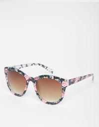 Солнцезащитные очки с цветочным принтом AJ Morgan