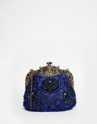 Клатч с бисером в винтажном стиле Neve & Eve - Синий