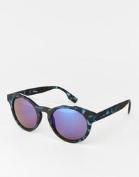 Круглые солнцезащитные очки в синей черепаховой оправе Jeepers Peepers