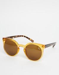 Круглые солнцезащитные очки Quay Australia Kosha - Коричневый
