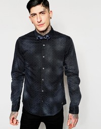Джинсовая рубашка Scotch & Soda - Темно-синий