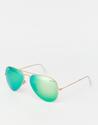 Солнцезащитные очки-авиаторы Ray-Ban RB3025 - Золотой