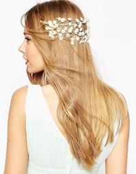 Украшение для волос с цветами ASOS WEDDING - Кремовый