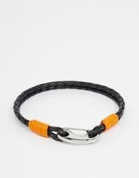 Плетеный кожаный браслет Ted Baker - Темно-синий