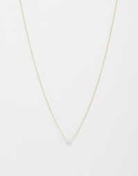 Ожерелье с агатом Weekday - Синий агат