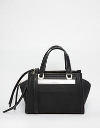 Миниатюрная сумка-тоут с ремешком через плечо Calvin Klein - Черный