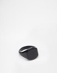 Черное кольцо на мизинец ASOS - Черный