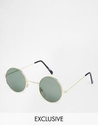 Круглые солнцезащитные очки Hindsight Vintage Gamble - Золотой