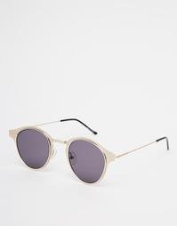 Золотистые круглые солнцезащитные очки Spitfire Warp - Золотой