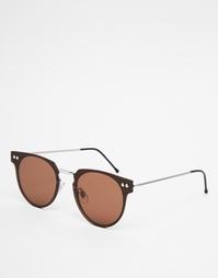 Коричневые круглые солнцезащитные очки Spitfire Cyber - Коричневый