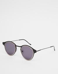 Круглые солнцезащитные очки в черной оправе Spitfire Warp - Черный