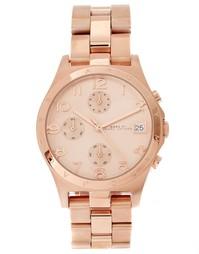 Часы-хронограф цвета розового золота Marc Jacobs Henry MBM3074