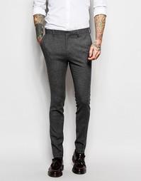 Супероблегающие брюки ASOS - Серый
