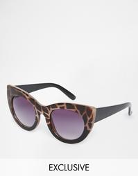 Круглые солнцезащитные очки кошачий глаз Jeepers Peepers - Черепаховый