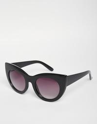 Круглые солнцезащитные очки кошачий глаз Jeepers Peepers - Черный