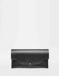 Кожаный кошелек без подкладки ASOS - Черный
