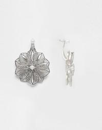 Филигранные серьги‑подвески с цветком и искусственным жемчугом ASOS
