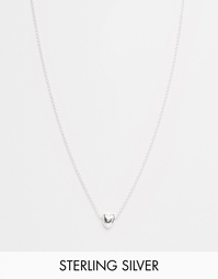 Серебряная цепочка с подвеской-сердечком ASOS - Покрытие серебром