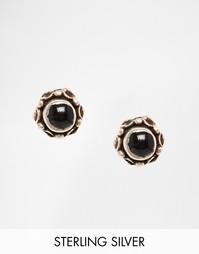 Серебряные серьги-гвоздики ASOS - Черный