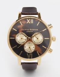 Часы-хронограф с черепаховым циферблатом Olivia Burton - Коричневый
