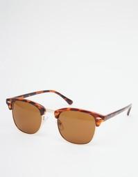 Классические солнцезащитные очки в стиле ретро ASOS - Коричневый