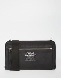 Клатч на молнии со съемным наплечным ремешком Cheap Monday - Черный
