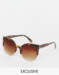 Круглые солнцезащитные очки с металлической отделкой Jeepers Peepers