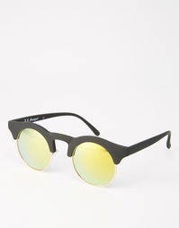 Черные солнцезащитные очки в круглой оправе в стиле ретро AJ Morgan