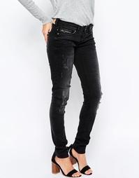 Узкие джинсы Blend She Glow Boogie - Выбеленный черный