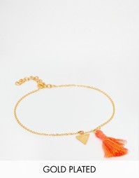 Браслет на щиколотку с кисточками Ottoman Hands - Золотой
