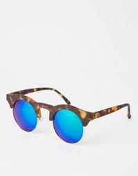 Солнцезащитные очки в круглой черепаховой оправе в стиле ретро AJ Morg