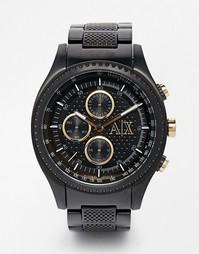 Черные часы с хронографом из нержавеющей стали Armani Exchange AX1604