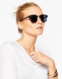 Классические солнцезащитные очки в стиле ретро ASOS - Черный
