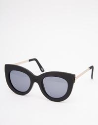 Солнцезащитные очки кошачий глаз в резиновой оправе с металлическими д Asos