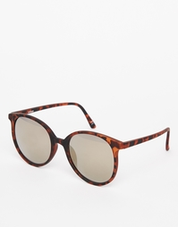 Круглые солнцезащитные oversize‑очки в узкой оправе ASOS