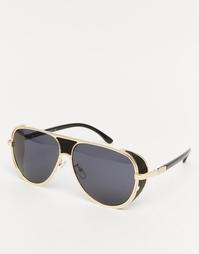 Черные солнцезащитные очки-авиаторы Jeepers Peepers Pheonix - Черный