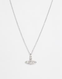 Ожерелье со стразами Vivienne Westwood - Серебряный
