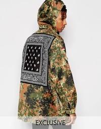 Куртка-парка с контрастной спинкой Reclaimed Vintage - Камуфляжный