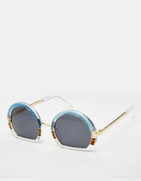 Круглые очки с контрастной оправой ASOS - Синий