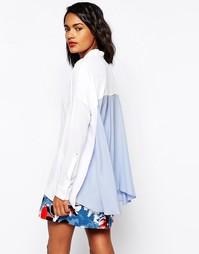 Свободная блузка с контрастной вставкой на спине Sportmax Code - Белый