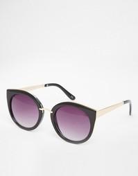 Солнцезащитные очки в металлической оправе ASOS Kitten - Черный