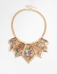 Броское ожерелье ALDO Zaonia - Золотой