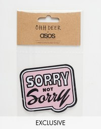 Термонаклейка Ohh Deer Sorry Not Sorry - Мульти