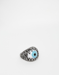 Кольцо-глаз из темно-серого металла ASOS - Gunmetal